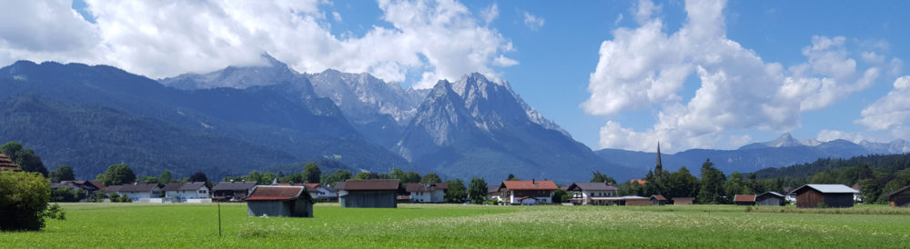 Alpen-Panorama Alpspitze Waxenstein Zugspitze
