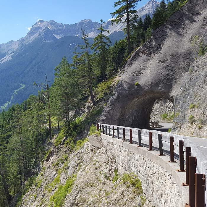 Motorradtour Hantenjoch Tunel