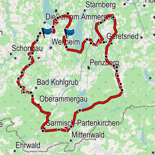 Landkarte der Aussichtstour